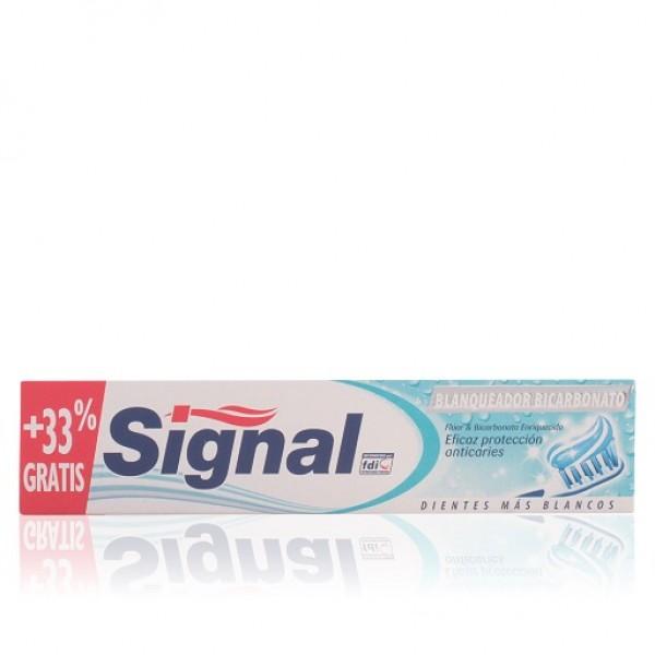 Signal Dentífrico blanqueador bicarbonato 75 ml + 33 gratis