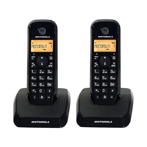 Motorola s1202 negro duo teléfono inalámbrico manos libres 50 contactos