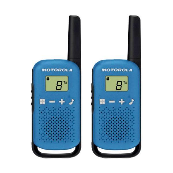 Motorola talkabout t42 azul walkie talkies 4km 16 canales pantalla lcd