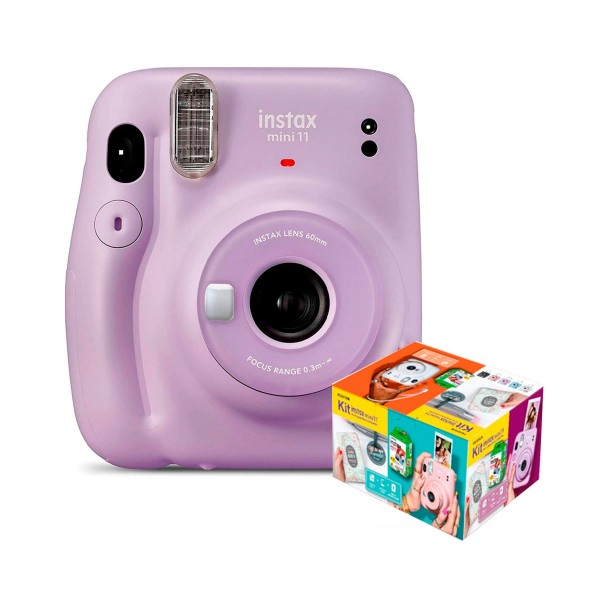 Fujifilm instax mini 11 lila cámara instantánea kit mr. wonderful