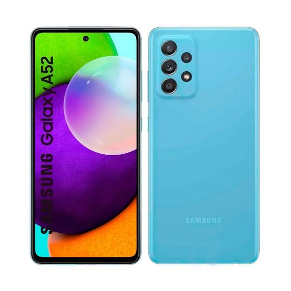 Samsung galaxy a52 azul móvil 5g dual sim 6.5'' 120hz fhd+ octacore 128gb 6gb ram quadcam 64mp selfies 32mp