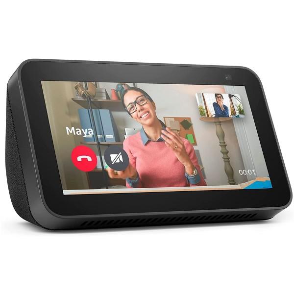 Amazon altavoz echo show 5 (2ª generación) negro/pantalla con control de hogar inteligente/alexa