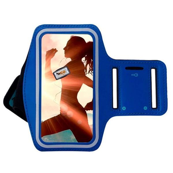 Jc armband mc102 brazalete deportivo azul resistente al agua para móviles de 5'' a 5.7''