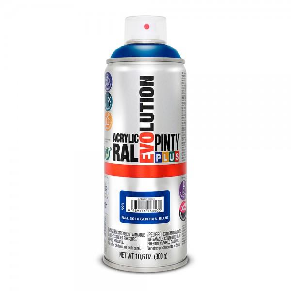 Pintura en spray pintyplus evolution 520cc ral 5010 azul genziana