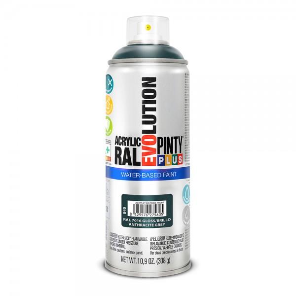 Pintura en spray pintyplus evolution water-based 520cc ral 7016 gris antracita